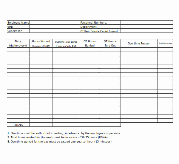 Excel Timesheet Template with formulas and Free 15 Overtime Worksheet Templates In Pdf Word