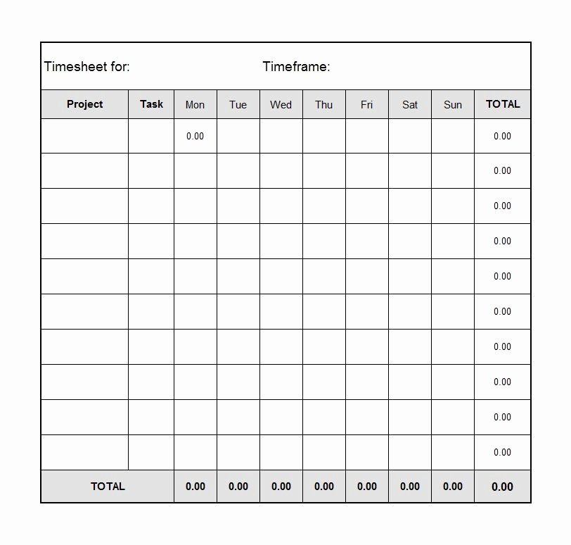 Free Printable Time Sheets and 40 Free Timesheet Templates [in Excel] Template Lab
