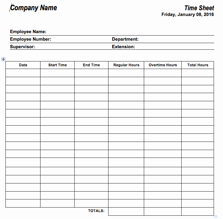 Free Printable Time Sheets then 6 Free Timesheet Templates for Tracking Employee Hours