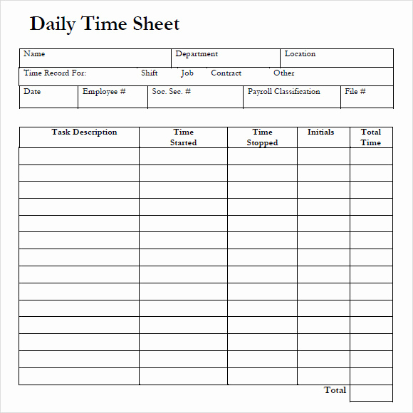 Simple Timesheet Template Of Free 10 Sample Daily Timesheet Templates In Google Docs