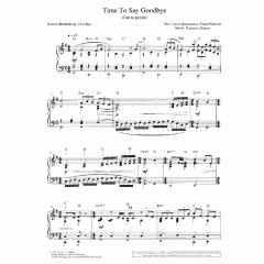 Time to Say Goodbye Sheet Music and Sheet Music & song Books andrea Bocelli Time to Say