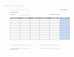 Timesheet for Work Hours or 6 Free Timesheet Templates You Really Need