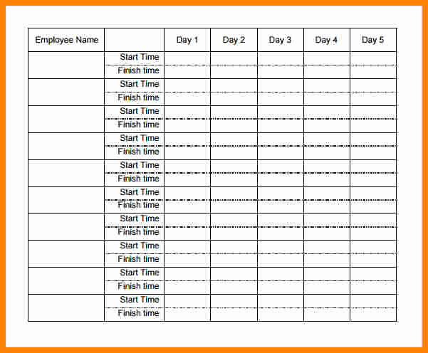 Timesheet Template for Multiple Employees Of 5 Payroll Time Sheets forms