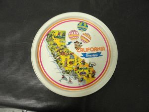 Bank Of America Timesheet Of Chicago Antiques Mickey Mouse Platter