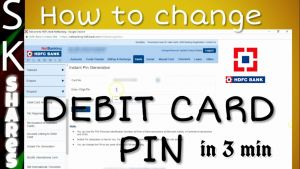 Bank Of America Timesheet Of How to Change Hdfc Debit Card Pin Using Netbanking In 3