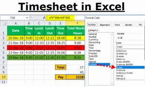 Clock In Clock Out Timesheet or Timesheet In Excel
