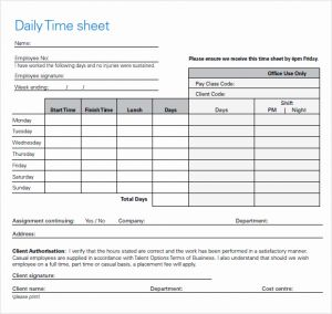 Daily Employee Timesheet Template for Free 10 Sample Daily Timesheet Templates In Google Docs