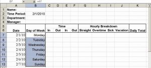 Daily Time Sheet format In Excel for Build A Simple Timesheet In Excel Techrepublic