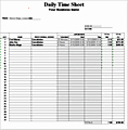 Daily Time Sheet format In Excel Of Download Services Related Excel Templates for Microsoft