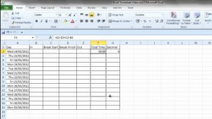 Daily Time Sheet format In Excel then Simple Excel Timesheet