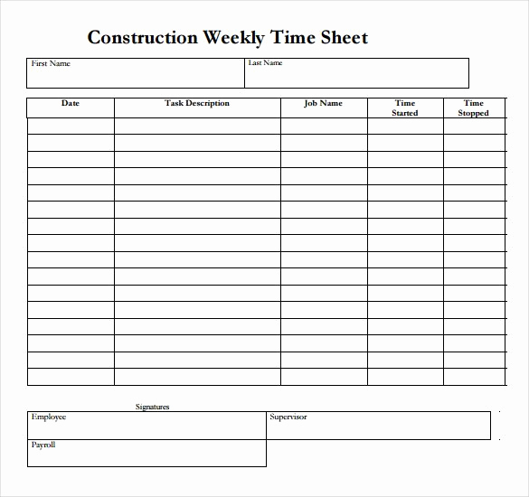 Example Timesheet Template