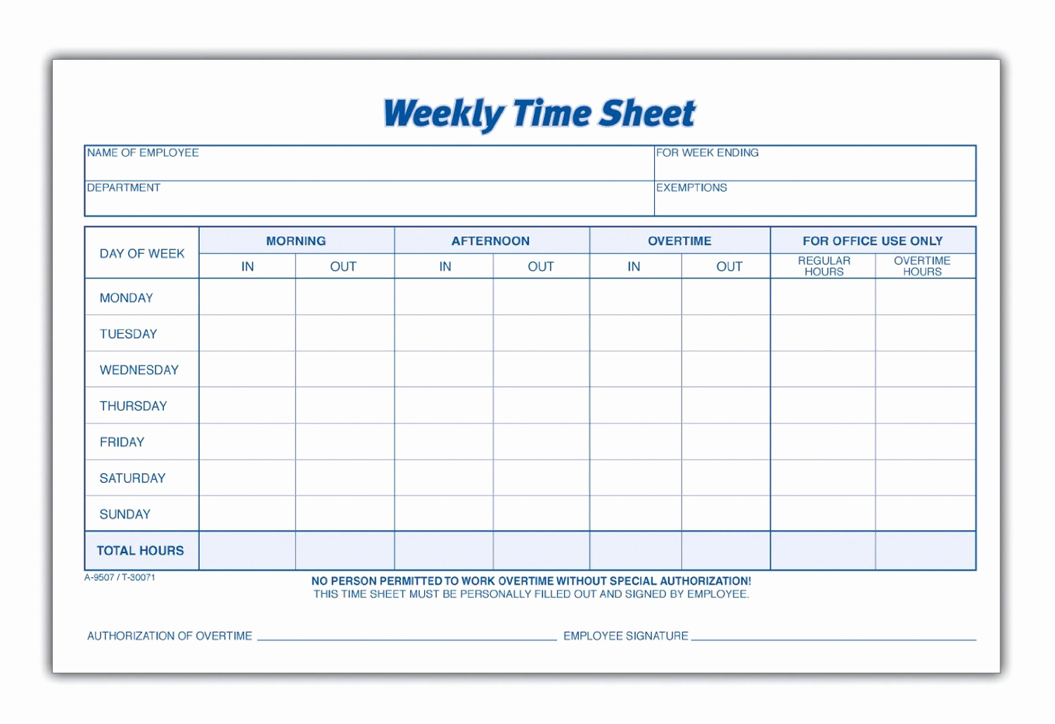 Free Online Printable Time Sheets