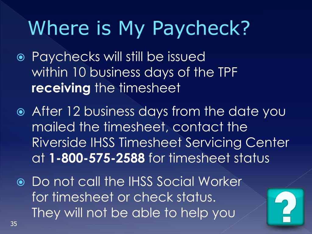 Ihss Timesheet Replacement