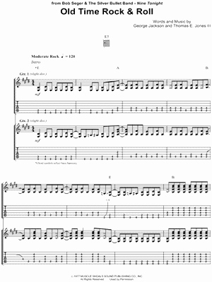 Old Time Rock and Roll Sheet Music