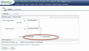 Unanet Timesheet Of Quick topic Scheduling A Timesheet Submit Email Reminder