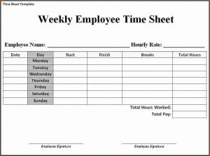 Weekly Project Timesheet for Weekly Timesheet Template Word – Emmamcintyrephotography