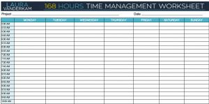 Minute Increment Time Sheet for How A Busy Dad Found Time for Reading and Meditation