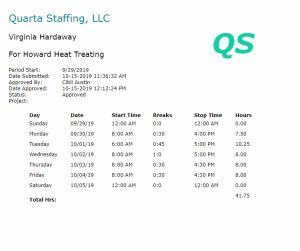 Select Staffing Timesheet for Time Sheet Features and Benefits