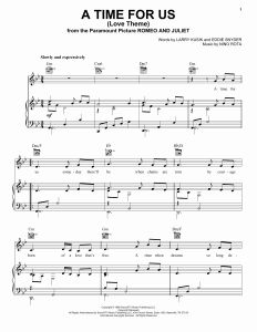 A Time for Us Classical Guitar Sheet Music Of A Time for Us Love theme Sheet Music by Nino Rota Piano