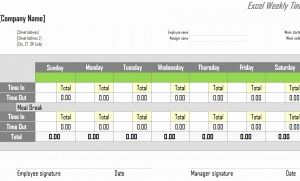 How Do You Create A Timesheet In Excel or Excel Weekly Timesheet