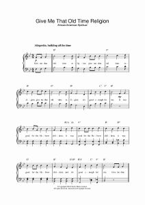 """In the Time that You Gave Me Sheet Music for Buy """"give Me that Old Time Religion"""" Sheet Music for Piano"""