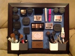 My Timesheet Home Depot and My Hanging Magnetic Make Up Board I Bought A Piece Of