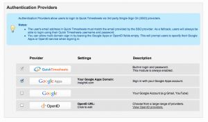 Timesheets Com App or New Feature Single Sign to Timesheets with Google Apps