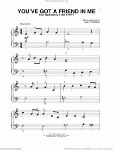 You Ve Got Time Sheet Music and Newman You Ve Got A Friend In Me Sheet Music for Piano
