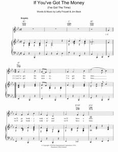 You Ve Got Time Sheet Music then Download if You Ve Got the Money I Ve Got the Time Sheet