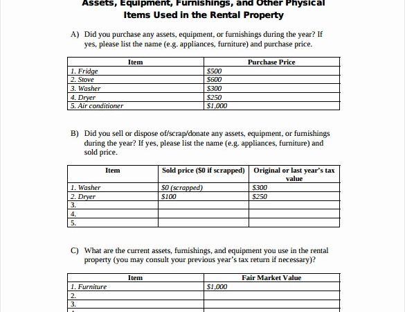 Rental Property Accounting Timesheet