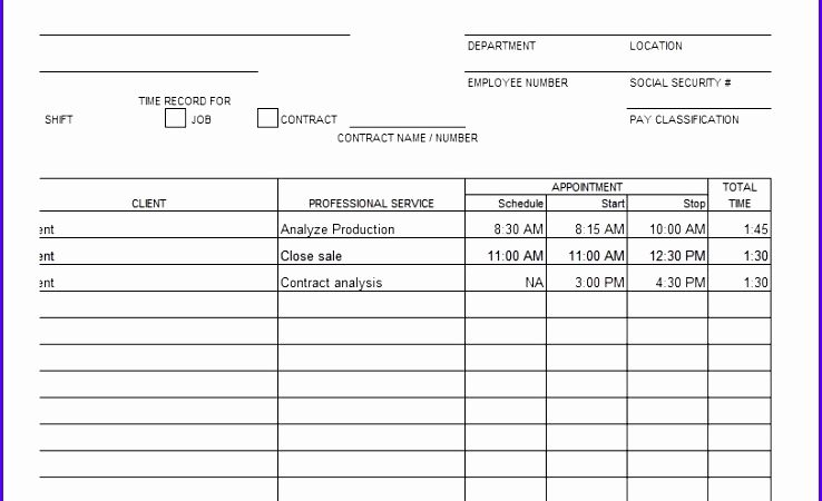 Examples Of Timesheets