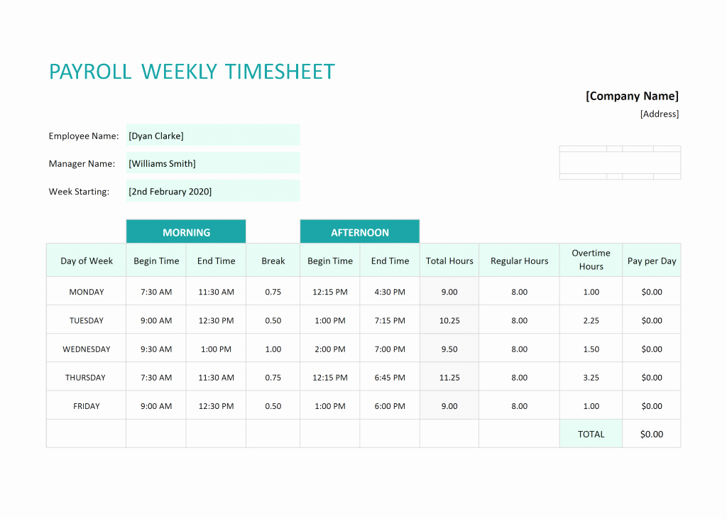 How to Make A Budget Timesheet