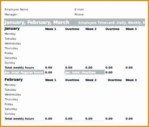 Insurance Timesheet Template Of 6 Employee Time Cards
