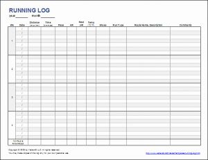 Mileage Tracker Timesheet for Download A Simple Running Log or Walking Log Template for Excel Track Your Miles Time Pace