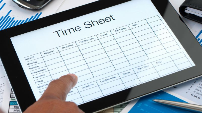 Money Saving Timesheet