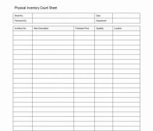 Proposal Tracking Timesheet then Inventory Count Sheet Physical Inventory Count Sheet