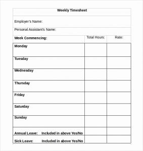 Rcuh Timesheet Template then 28 Weekly Timesheet Templates – Free Sample Example format Download