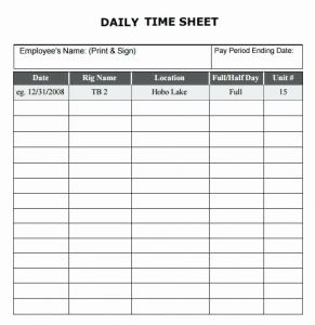 Whats A Timesheet 2 Of Daily Time Sheet Template [download] Bonsai