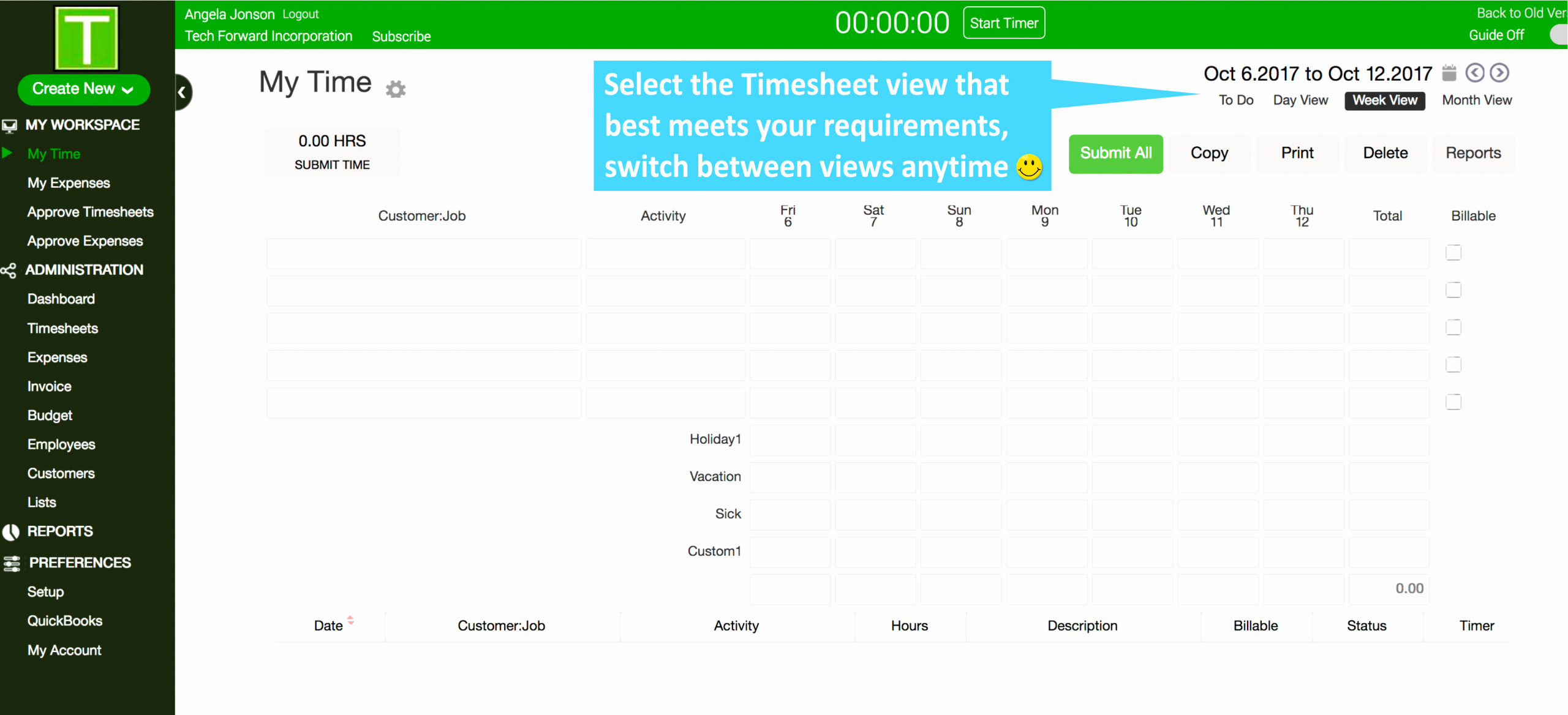 Coty Timesheets