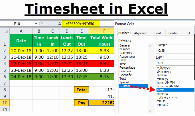 Excel Monthly Timesheet Template With Formulas Tangseshihtzu Se