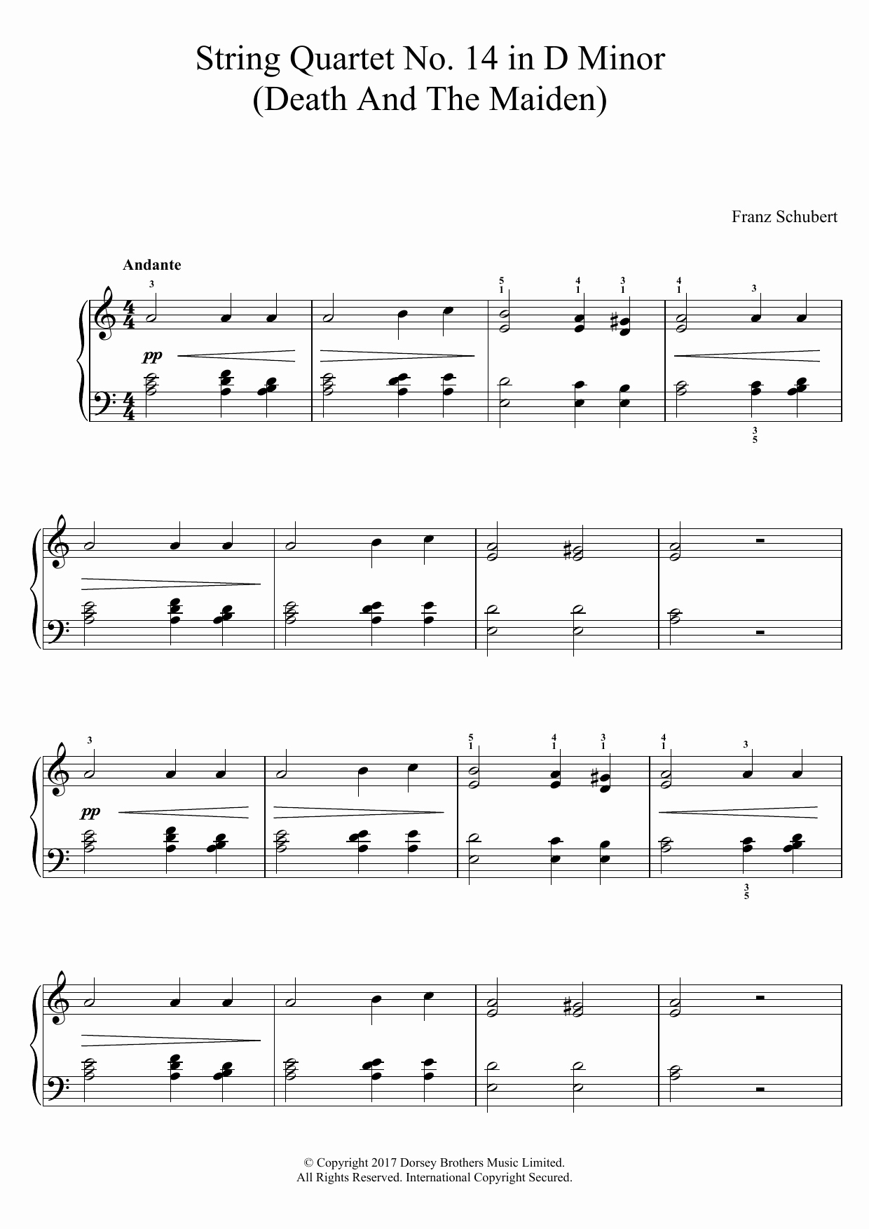 Quartet for the End Of Time Sheet Music