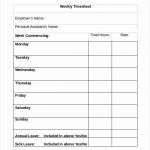 Sample Time Sheets for Weekly Timesheet Template Word – Emmamcintyrephotography