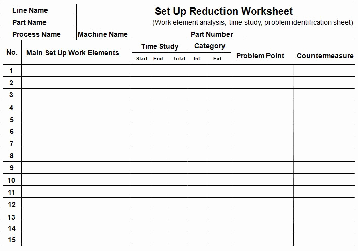 Time Study Sheet Excel