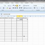 Timesheet with Breaks Of Simple Excel Timesheet