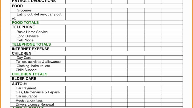 Dave Ramsey Budget Timesheet Excel