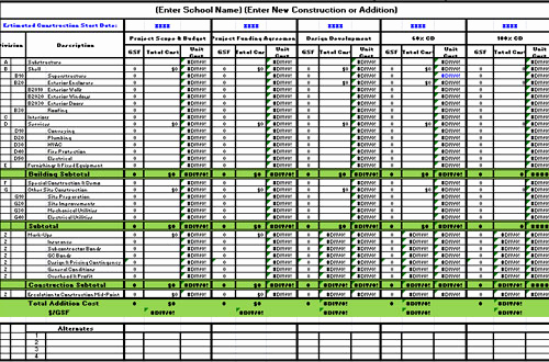 Free Construction Estimating Timesheet Template