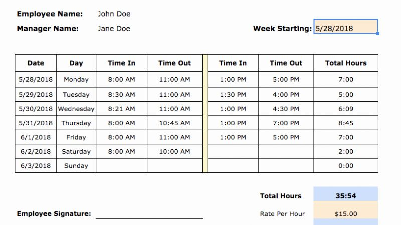 How to Do A Simple Timesheet