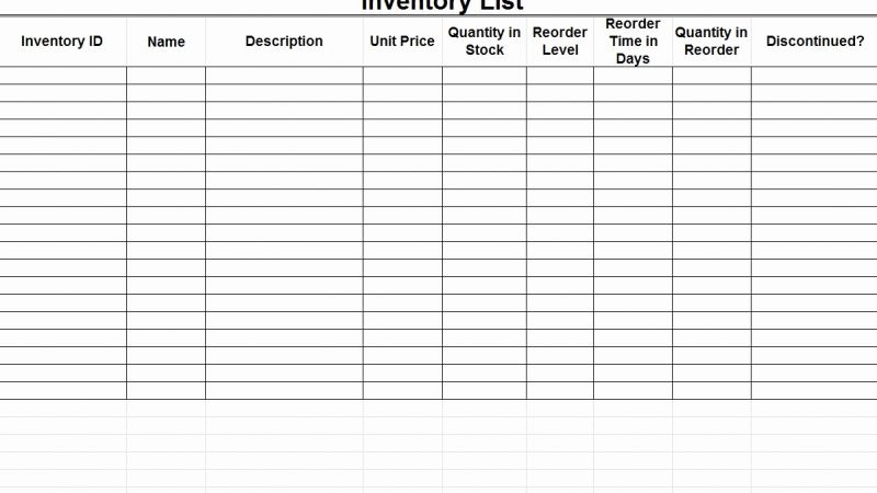 How to Make A Simple Inventory Timesheet