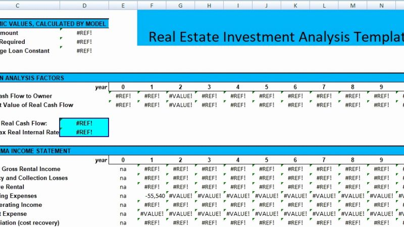 Real Estate Analysis Timesheet