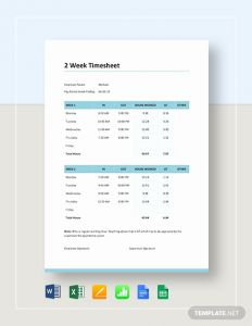 Compare 2 Excel Timesheets for 2 Week Timesheet Template Download 345 Sheets In Microsoft Word Excel Apple Pages Numbers